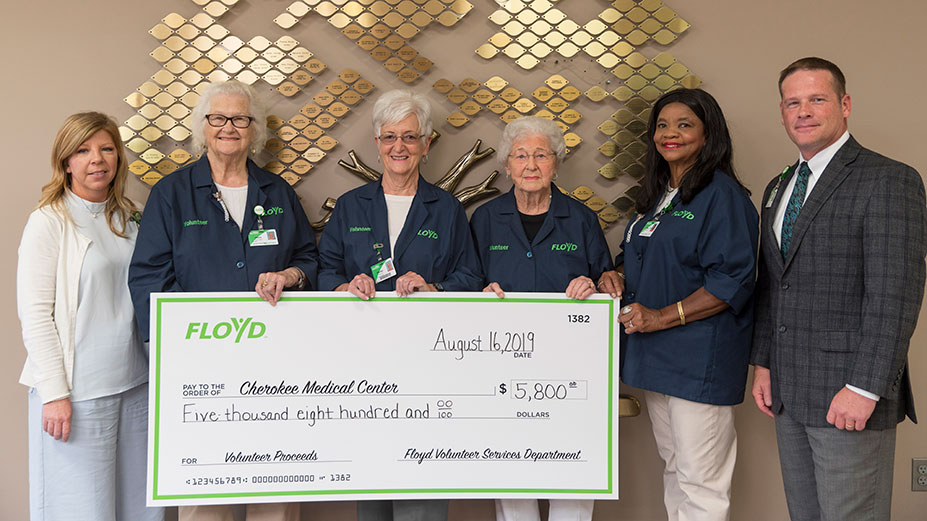 Volunteers Provide $5,800 for Cherokee Medical Center
