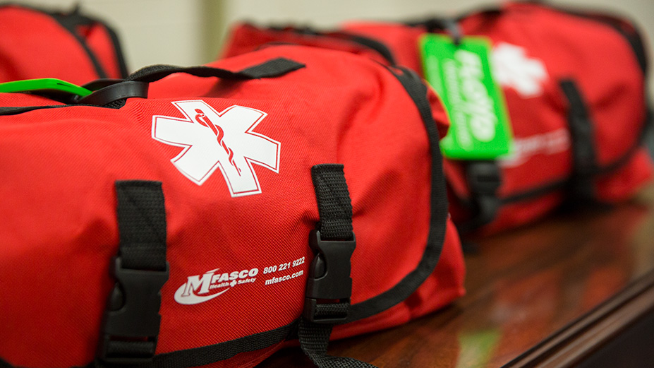 Floyd Donates Portable First-Aid Emergency Kits to County Schools