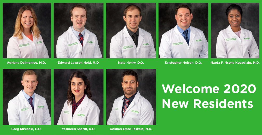 Floyd Names Chief Residents, Announces New Residents