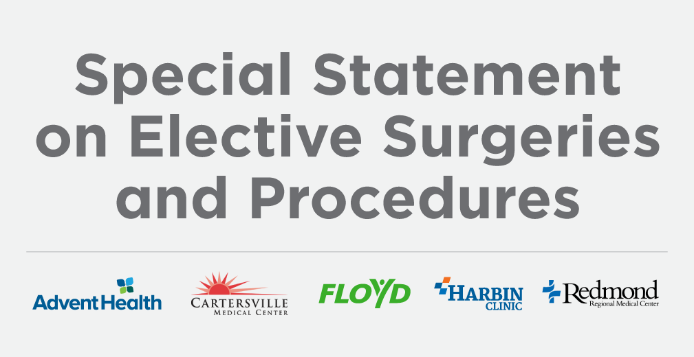​Local Hospitals and Healthcare Providers Rescheduling Non-essential Surgeries and Procedures to Mitigate Risk of Further COVID-19 Community Spread