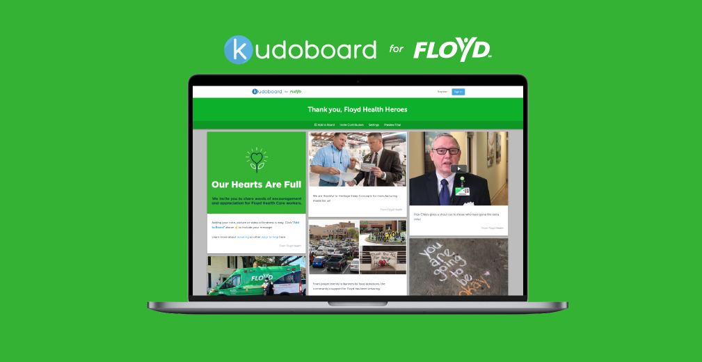 Say Thank You to Our Heroes on Kudoboard