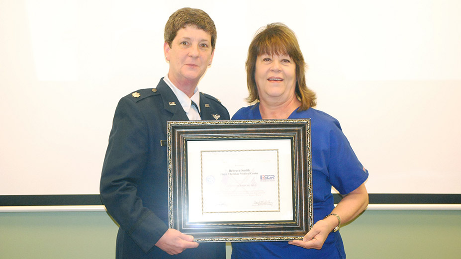 Cherokee's Becky Smith Receives Patriot Award from U.S. Department of Defense