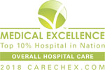 Medical Excellence Award Top 10 Percent in Nation Overall Hospital Care Floyd Medical Center