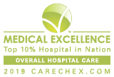 Medical Excellence Award Top 10 Percent in Regional Overall Hospital Care Floyd Medical Center